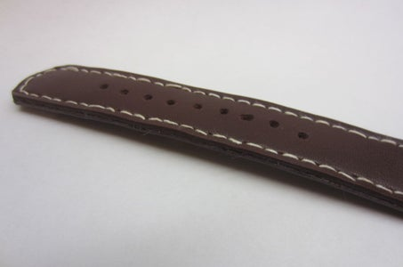 Making the Holes in the Long Strap