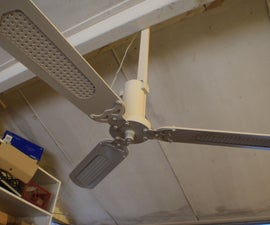 Solar Powered Ceiling Fan (Chirstmas Gift)