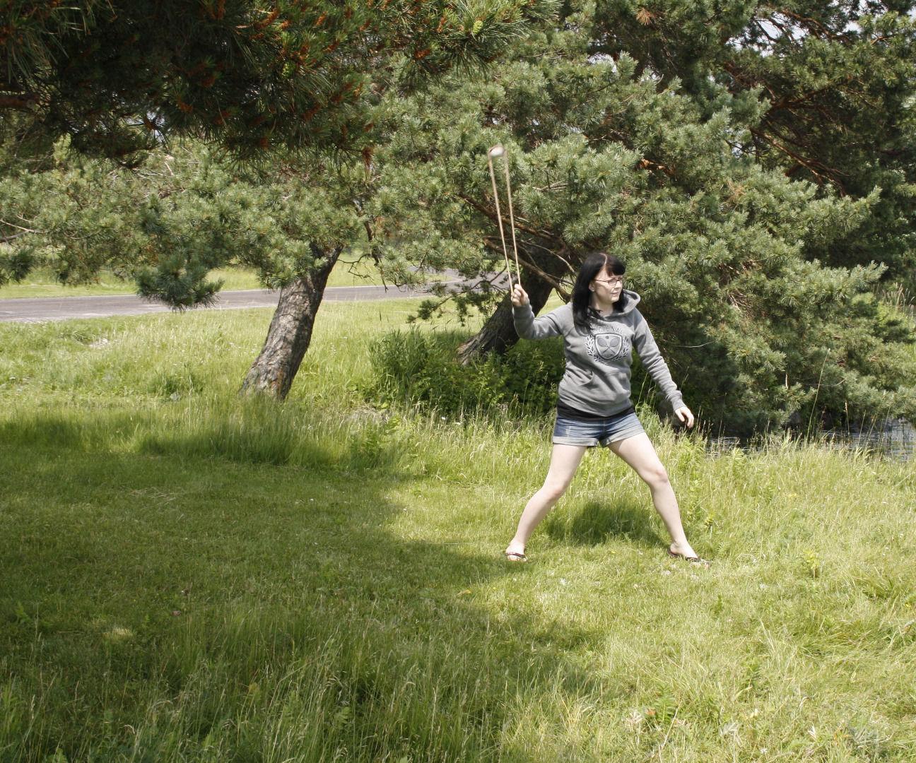 Aztec Split Pouch Sport/Hunting Stone Sling