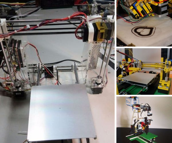 Some DIY 3D Printers