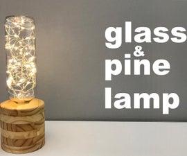 Glass & Pine Lamp