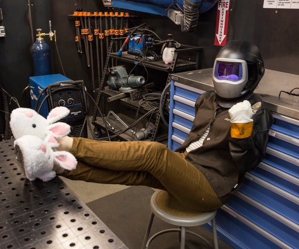 Steel Toe Bunny Slippers