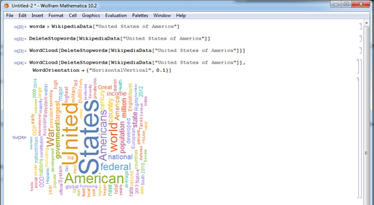 Introducing Rotation for Words in the Word Cloud