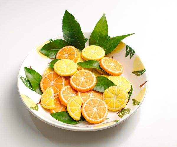 现实的橙色和柠檬饼干