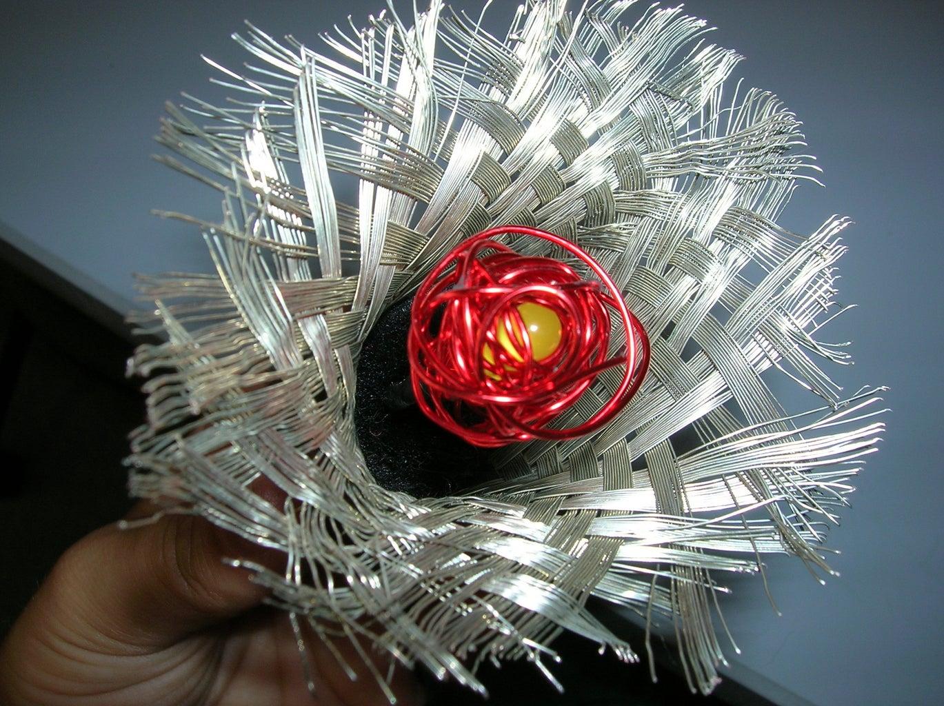 Insert LED Into Flower.