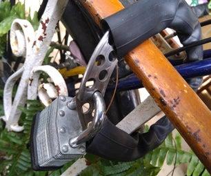 Bicycle O-lock From Disc Brake Rotor