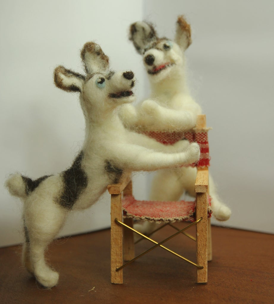 Stop Motion Needle-felted Dog Character