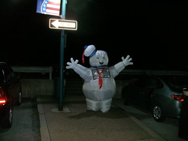 Wearable Stay Puft Marshmallow Man Costume