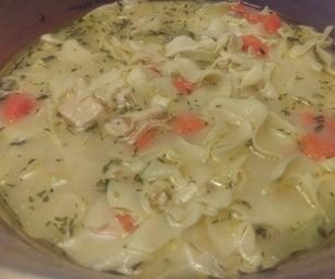 Microwave Comfort Chicken Noodle Soup