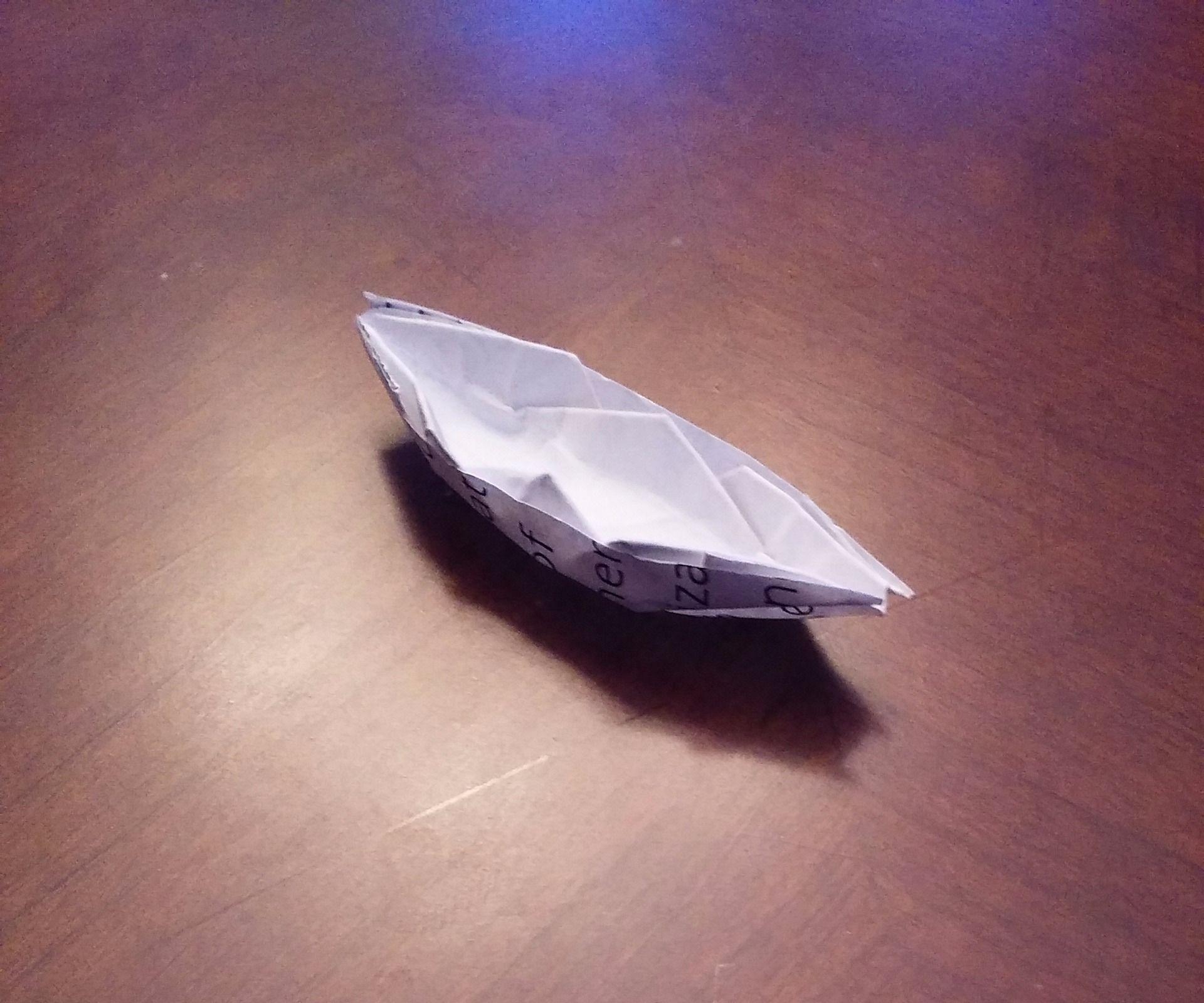 Origami Boat model 2