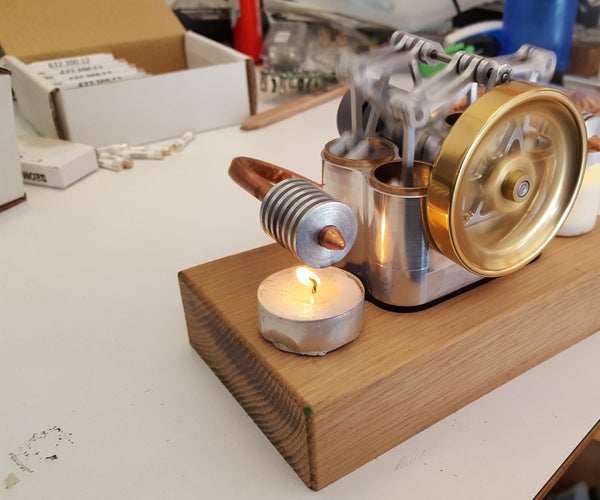 Candle Power Stirling Engine