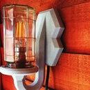 Industrial Jar Wall Lamp