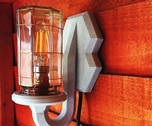 Industrial Jar Wall Lamp