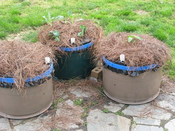 Earth Box From a Plastic Barrel
