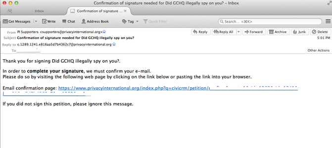 Confirm Your Email Address.
