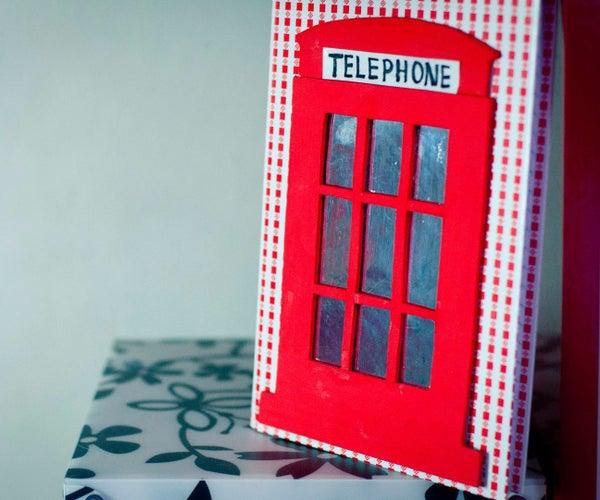Red Telephone Box - Custom Notebook
