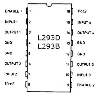 L293B and L293D Motor Drivers