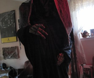 """Bill Murry's Scrooged Inspired Ghost of Christmas Future Costume Aka. """"Video Face of Death"""""""