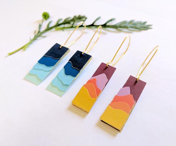 Paper Landscape Silhouette Earrings