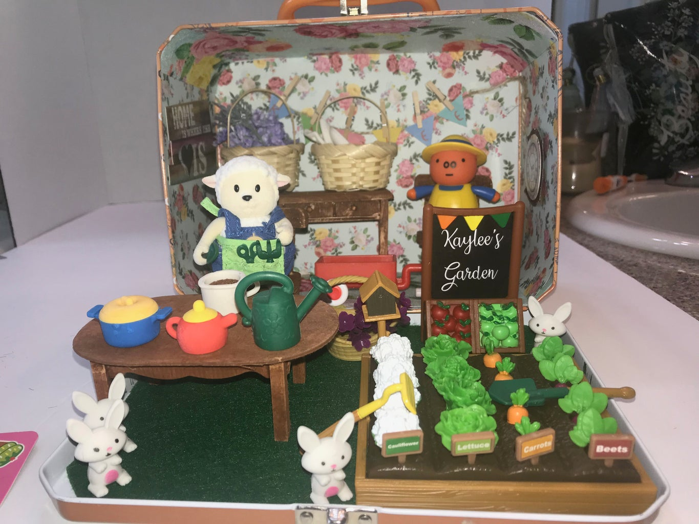 The Finished Garden Travel Dollhouse