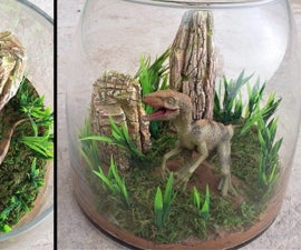 How to Make Dinosaur Terrarium Raptor Landscape Diorama