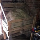 Recycled Pallets and Wood - Two Bale Hay Storage Rack