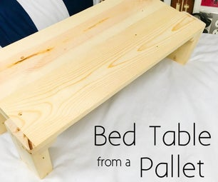 Bed Table From a Pallet