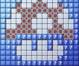 Minesweeper Pixel Art Super Mario Mushroom
