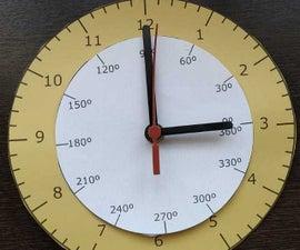 Trigonometric Clock / Relógio Trigonométrico.