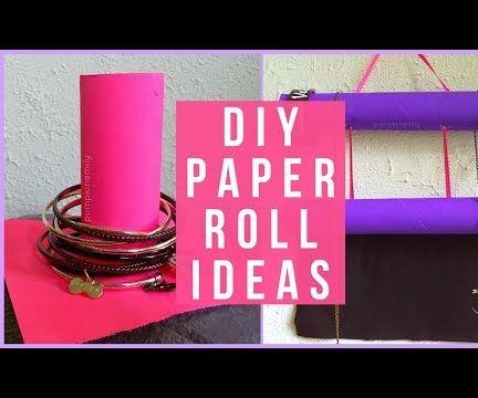 3 Paper Roll Jewelry Organization Life Hacks & Ideas
