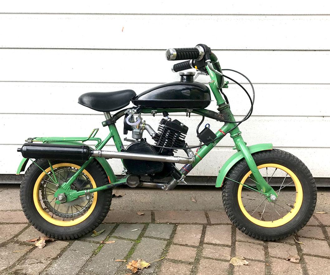 Mini Motorbike From Kid Bike With 80cc Bicycle Engine Kit