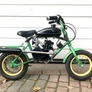 Mini Motorbike From Kid Bike With 80cc Bicycle Engine Kit