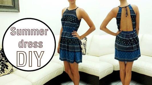 Backless Dress    FREE PATTERN