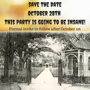 Asylum Halloween Party Invite