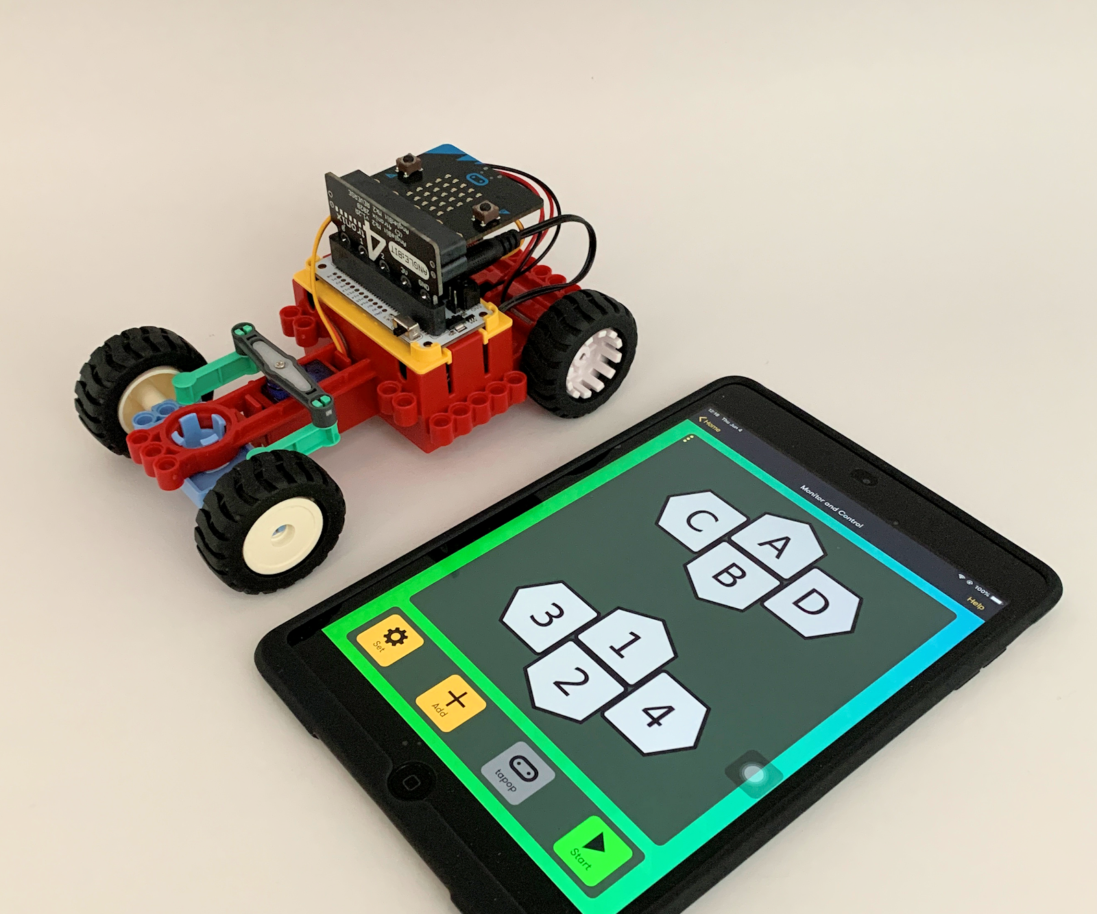 Using IPhone or IPad and Micro:bit Game Pad App to Control an RC Car
