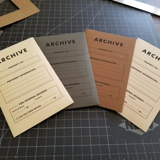 Field Notes Archival Envelopes