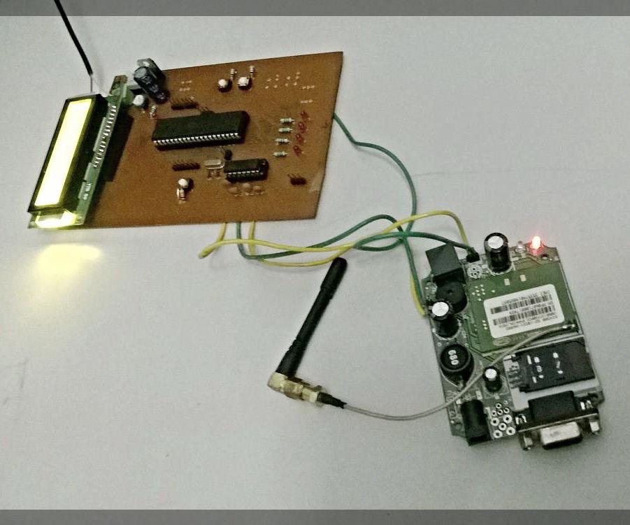 DIY SMS Driven Notice Display Board