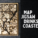 Personalised Map Jigsaw Coasters