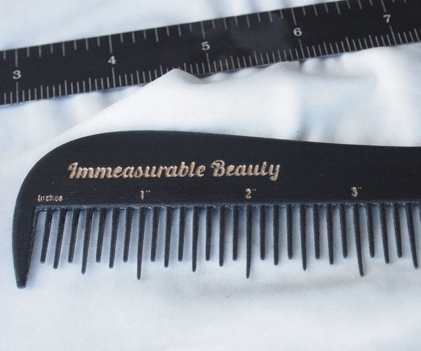 Immeasurable Beauty - a Comb That Is Also a Ruler