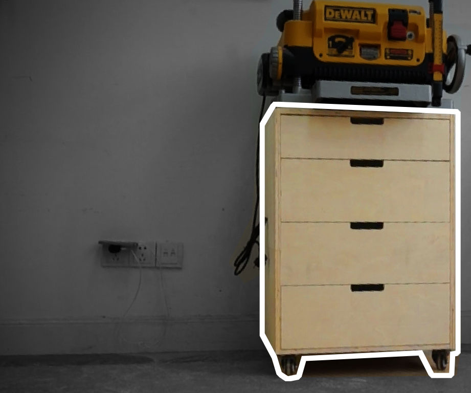 Planer Stand Cabinet