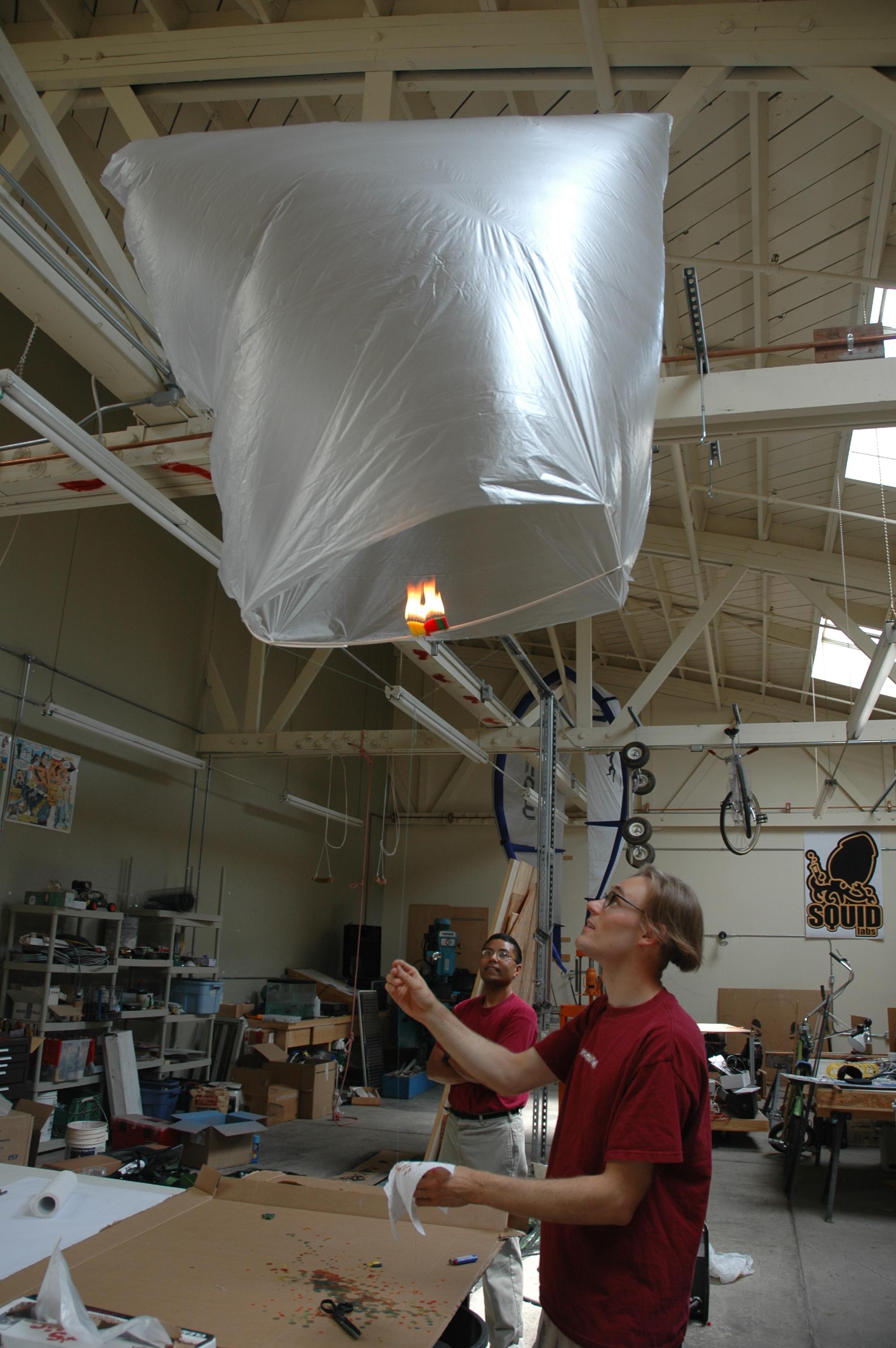 Candle Powered Hot Air Balloon