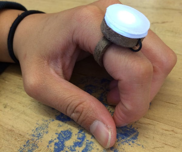 Wooden Luminescent Ring