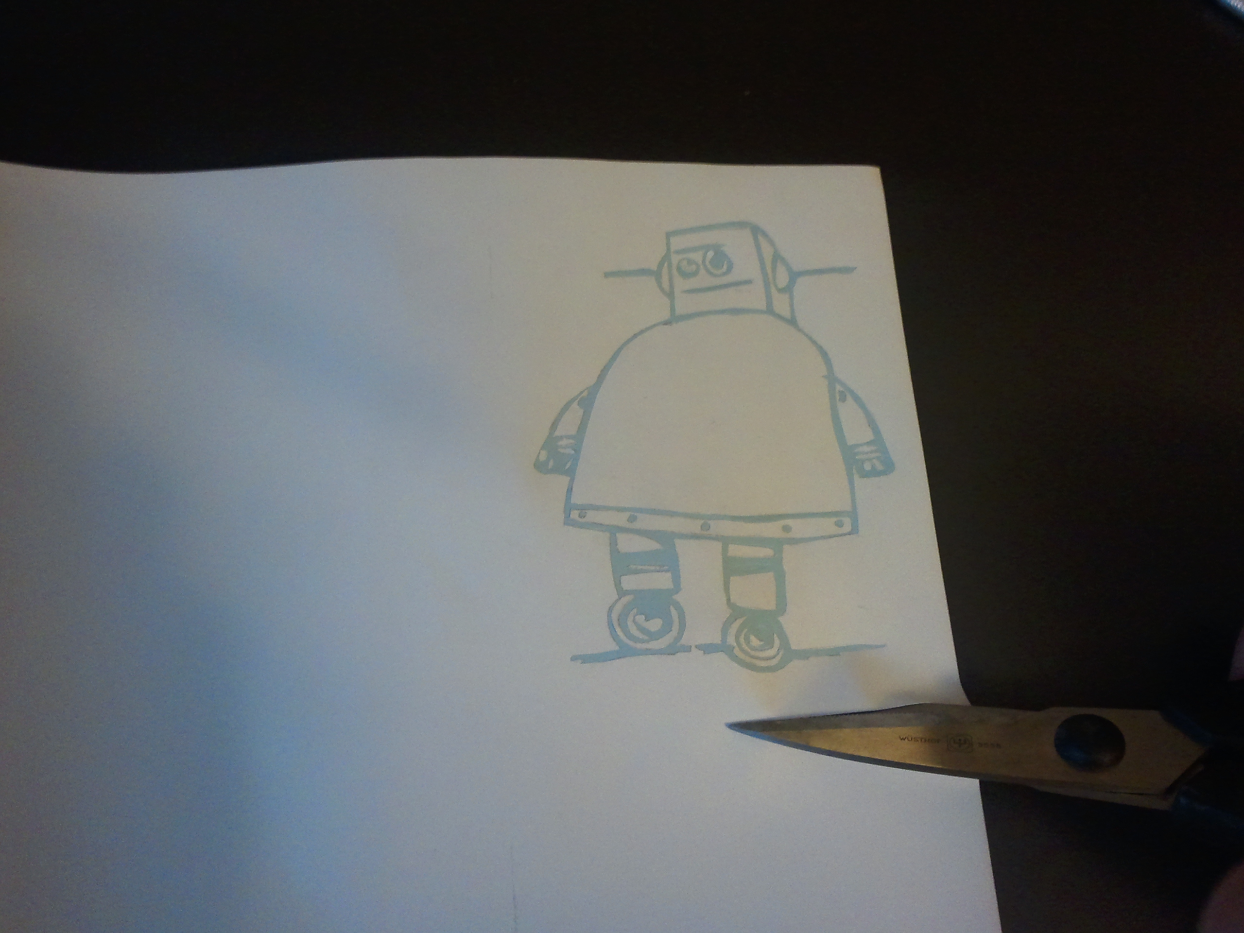 Picture of Remove Areas to Be Inked