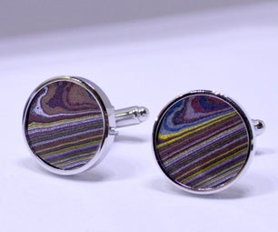 Cufflinks Made From Fordite