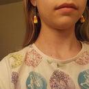Polymer Clay Candy Corn Earrings