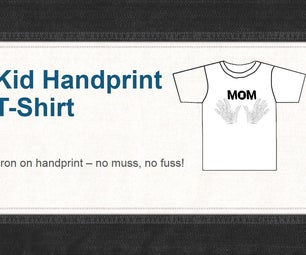 Iron on Hand Prints - T Shirt for Mom
