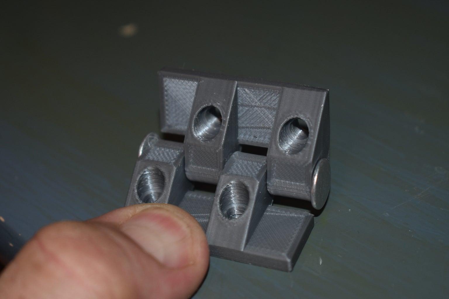 Glue Hinge Halves With Alignment Rod