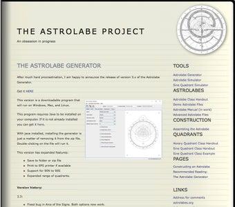 Download Richard Wymarc's Astrolabe Software