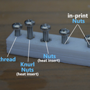 Bolts , Screw , Thread , Nuts and Heat Insert  Into 3D Prints