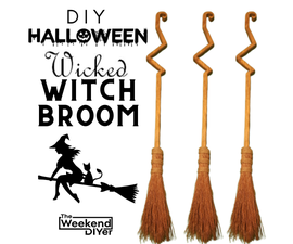 DIY Wicked Witch Broom